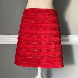 JCrew Fringe Tiered Mini Skirt